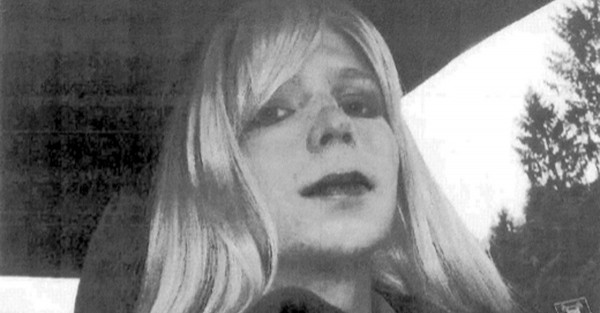 Black and white photo of American Patriot & Whistle-blower, Chelsea Manning