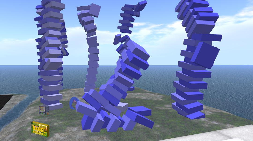 "Photo of the Babel Infocalypse ""land"" at Art Farm at LEA28"